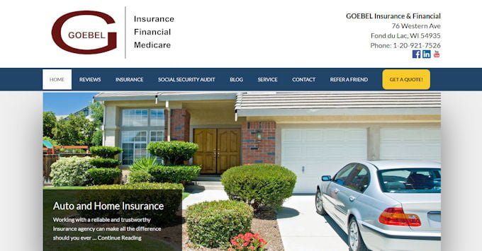 The new GOEBEL Insurance & Financial website