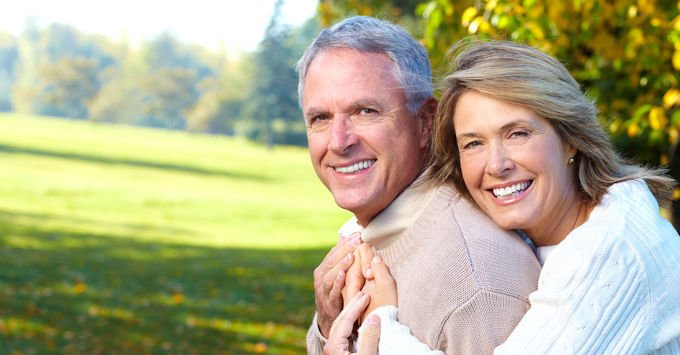 Couple at retirement age